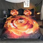 DefaultFire Gothic Rosess3D Customize Bedding Set Duvet Cover SetBedroom Set Bedlinen