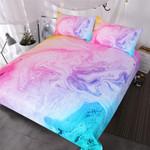 BlessLiving Colorful Marble  Pastel Pink Blue Purple Quicksand  Abstract Art et Bright Girl Bedspread3D Customize Bedding Set/ Duvet Cover Set/  Bedroom Set/ Bedlinen