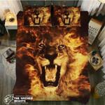 DefaultFire Lion3D Customize Bedding Set Duvet Cover SetBedroom Set Bedlinen