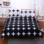 Black Cross HomeWhite Bedclothesuperoft Cover For Bed Bedroom Twin Full Queen King drap de lit3D Customize Bedding Set Duvet Cover SetBedroom Set Bedlinen