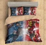 3D Customize Captain America vs Iron Man  3D Customized Bedding Sets Duvet Cover Bedlinen Bed set