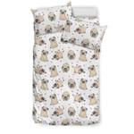 Pug and Hearts 3D Customize Bedding Set Duvet Cover SetBedroom Set Bedlinen
