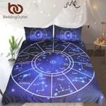 Twelve Constellations  Queen Galaxytars  Horoscope Blue Bed Covercorpius Leo Bedclothes3D Customize Bedding Set/ Duvet Cover Set/  Bedroom Set/ Bedlinen