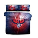 Home Decoration DesignHawks Atlanta Hawks NBA Logo Theme Comforter Bedspreadss3D Customize Bedding Set Duvet Cover SetBedroom Set Bedlinen