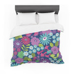 "Jacqueline Milton ""LulaAqua"" Purple Blue Featherweight3D Customize Bedding Set Duvet Cover SetBedroom Set Bedlinen"