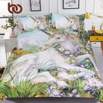 Floral UnicornWatercolor et for Kids Adults Flowers Bedclothes Dreamy Home Textiles 3D Customize Bedding Set Duvet Cover SetBedroom Set Bedlinen
