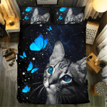 Butterfly And Cat #092023D Customize Bedding Set Duvet Cover SetBedroom Set Bedlinen