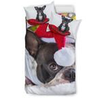 I LOVE FRENCHIE(christmas)3D Customize Bedding Set Duvet Cover SetBedroom Set Bedlinen