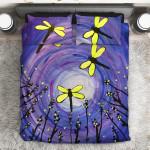 Night Life Dragonfly  3D Customized Bedding Sets Duvet Cover Bedlinen Bed set