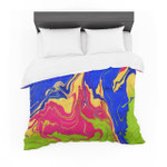 """Claire Day """"Escaping Reality"""" Green Pink Featherweight3D Customize Bedding Set Duvet Cover SetBedroom Set Bedlinen"""