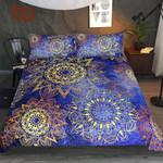 MandalaBlue Golden FlowersFloral Luxurious et Bohemian Bedspreads3D Customize Bedding Set Duvet Cover SetBedroom Set Bedlinen