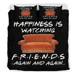 Happiness is watching F r i e n d 3D Customize Bedding Set Duvet Cover SetBedroom Set Bedlinen