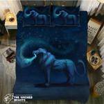 DefaultGalaxy Lion3D Customize Bedding Set Duvet Cover SetBedroom Set Bedlinen