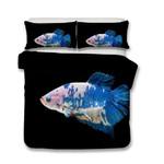 3D Design Fish Pattern Queen Kingize Duvet Cover Pillow CoverlUnderwater World3D Customize Bedding Set Duvet Cover SetBedroom Set Bedlinen