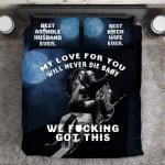 """My Love For You Will Never Die Baby""V23D Customize Bedding Set Duvet Cover SetBedroom Set Bedlinen"