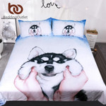 Husky PuppyQueen King Watercoloret for Kids Animal Bedclothes 3D Customize Bedding Set Duvet Cover SetBedroom Set Bedlinen