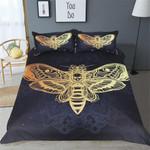 Death Moth Withkull(2 Colours)3D Customize Bedding Set Duvet Cover SetBedroom Set Bedlinen