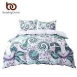 GreenTwinize Floral Paisley White 200TCoft Bedclothes et 3D Customize Bedding Set Duvet Cover SetBedroom Set Bedlinen