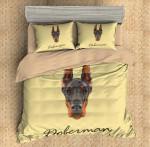 3D Customize Doberman  3D Customized Bedding Sets Duvet Cover Bedlinen Bed set