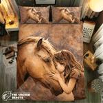 Little Girl And Her Horse #091943D Customize Bedding Set Duvet Cover SetBedroom Set Bedlinen