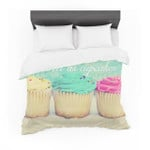 """""""Life Is Asweet As Cupcakes"""" Green Featherweight3D Customize Bedding Set Duvet Cover SetBedroom Set Bedlinen"""