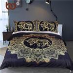 Mandala Elephant Black GoldenQueenize Boho et Duvet Cover Cover3D Customize Bedding Set Duvet Cover SetBedroom Set Bedlinen