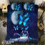 DefaultBlue Butterfly Moon Nights3D Customize Bedding Set Duvet Cover SetBedroom Set Bedlinen