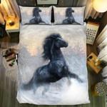 Black Horse Winters3D Customize Bedding Set Duvet Cover SetBedroom Set Bedlinen