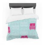 "Michelle Drew ""Beep Beep"" Magenta Aqua Featherweight3D Customize Bedding Set Duvet Cover SetBedroom Set Bedlinen"