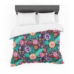 """Agneschugardt """"Folk Meadow"""" Purple Teal Featherweight3D Customize Bedding Set Duvet Cover SetBedroom Set Bedlinen"""