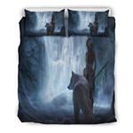 White Wolf Fantasy Doona 3D Customize Bedding Set Duvet Cover SetBedroom Set Bedlinen