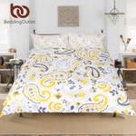 PaisleyYellow for Adults Boho Floral Leaf etHome Textiles3D Customize Bedding Set Duvet Cover SetBedroom Set Bedlinen