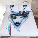 DefaultHippie Wolf3D Customize Bedding Set Duvet Cover SetBedroom Set Bedlinen