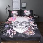 ugarkull and Floral etGothic Bedclothes Flowers PrintedPink And Black Bed Cover3D Customize Bedding Set Duvet Cover SetBedroom Set Bedlinen