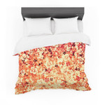 "Ebi Emporium ""Flower Power in Orange"" Red Floral Featherweight3D Customize Bedding Set Duvet Cover SetBedroom Set Bedlinen"