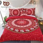 Red MandalaElephant Indianwiithoft Moroccan Bedclothes 4Pcs Wholesale3D Customize Bedding Set Duvet Cover SetBedroom Set Bedlinen