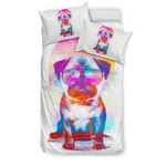 Summer Pug 3D Customize Bedding Set Duvet Cover SetBedroom Set Bedlinen