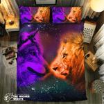 Lion And Wolf #091713D Customize Bedding Set Duvet Cover SetBedroom Set Bedlinen