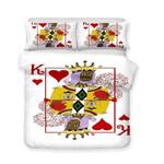 3d Poker Playing Cards Heart K Art Print Allize Art Print et3D Customize Bedding Set Duvet Cover SetBedroom Set Bedlinen