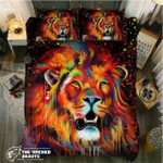 DefaultWatercolor Lion3D Customize Bedding Set Duvet Cover SetBedroom Set Bedlinen