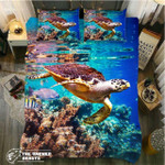 Turtle Lively Oceanwim3D Customize Bedding Set Duvet Cover SetBedroom Set Bedlinen