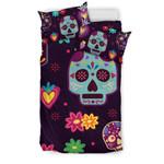 Muertekulls and Flowers 3D Customize Bedding Set Duvet Cover SetBedroom Set Bedlinen