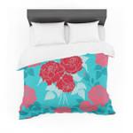 "Annelineophia ""Summer Rose Red"" Blue Aqua Featherweight3D Customize Bedding Set Duvet Cover SetBedroom Set Bedlinen"