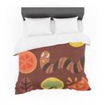 "Janemith ""Autumn Repeat"" Brown Bugs Cotton3D Customize Bedding Set Duvet Cover SetBedroom Set Bedlinen"
