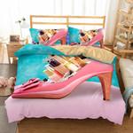 3D Art Pattern Highheeledhoes Printed Coveret Comforter CoverRose3D Customize Bedding Set Duvet Cover SetBedroom Set Bedlinen