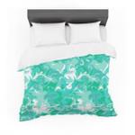 "Annelineophia ""Marbleized Ineafoam"" Teal Aqua Featherweight3D Customize Bedding Set Duvet Cover SetBedroom Set Bedlinen"
