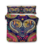 New Design Art Print BedroomBohemia Purple Theme Bohemian Comforter Boho Bedspreadss3D Customize Bedding Set Duvet Cover SetBedroom Set Bedlinen