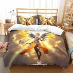 3D Customize Overwatch Mercy et Bedroomet Bed3D Customize Bedding Set/ Duvet Cover Set/  Bedroom Set/ Bedlinen