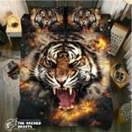DefaultTiger Roaring Fire3D Customize Bedding Set Duvet Cover SetBedroom Set Bedlinen
