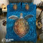 Lonely Turtle In The Blueea3D Customize Bedding Set Duvet Cover SetBedroom Set Bedlinen